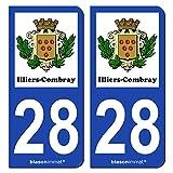 2 Autocollants de plaque d'immatriculation auto 28120 d'occasion  Livré partout en France