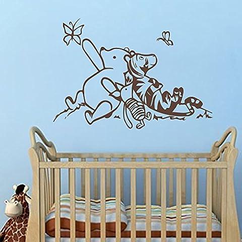 Adhesivo decorativo para pared Decor adhesivo decorativo para pared de Winnie the Pooh–Classic Winnie the Pooh Guardería Pared Adhesivos–Nursery Baby habitación de los niños de pared Art Decor (22