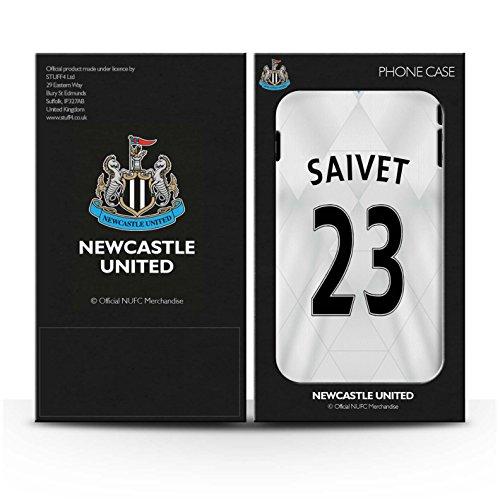 Offiziell Newcastle United FC Hülle / Glanz Snap-On Case für Apple iPhone SE / Janmaat Muster / NUFC Trikot Away 15/16 Kollektion Saivet