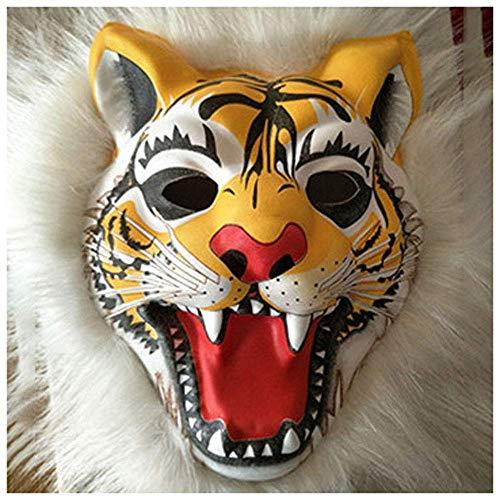 YaPin Plüsch Tiger Maske Tier Maske Halloween Maske Party Movie Requisiten
