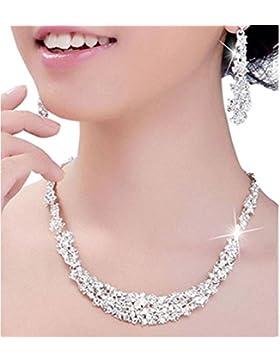 Ohrringe, Oyedens CKristall Brautschmuck Sets Ohrringe Halskette