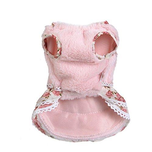 Sonnena Haustier Bekleidung Hündchen Welpen Winter Warme Bowknot Gem Pullover Rock Puppy Kostüm Nette Sweatshirt Kleid Outwear Hundebekleidung Hundepullover