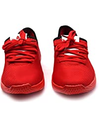 Menter Sports Designer Casual Canvas/Mesh Shoes for Men, Red