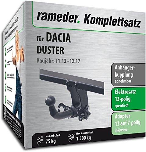 duster anhaengerkupplung Rameder Komplettsatz, Anhängerkupplung abnehmbar + 13pol Elektrik für Dacia Duster (113438-08547-1)