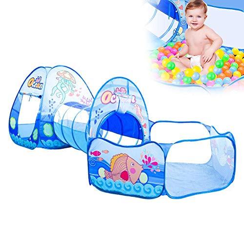 Kinder spielen zelt mit tunneln, baby kinder tragbare 3 in1 set kinder spielhaus ball pits zelt mit tunnel gesetzt, zelt spielzeug für Outdoor & Indoor (Bälle nicht Enthalten)