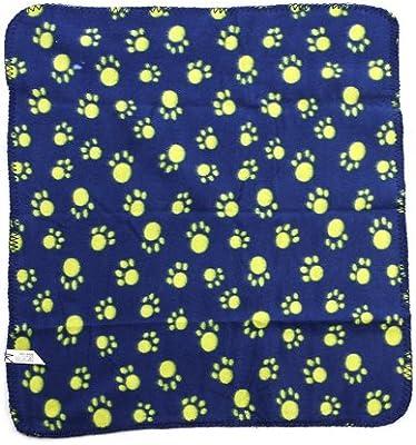 vyage (TM) productos de alta calidad mascotas manta de forro polar suave de perro mascota de la perrera Mat Cama Cubierta caliente rosa de huellas de manta rojo negro azul