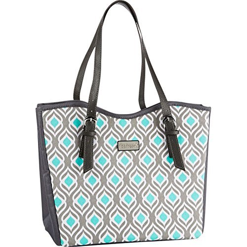 fit-and-fresh-signature-collection-perth-insulated-lunch-bag-gray-and-aqua-leaf-aqua-by-fit-fresh