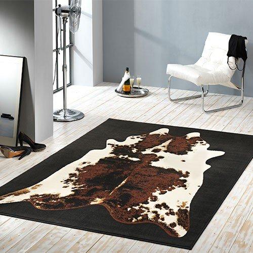 Design Velours Teppich Kuhfell Optik 101579
