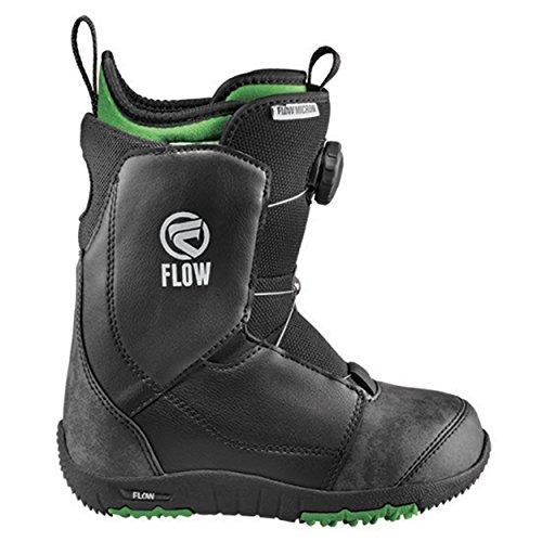 Flow Micron Boa 2017-Stivali da Snowboard Youth Snowboard, per Bambini Boots, Black, 7