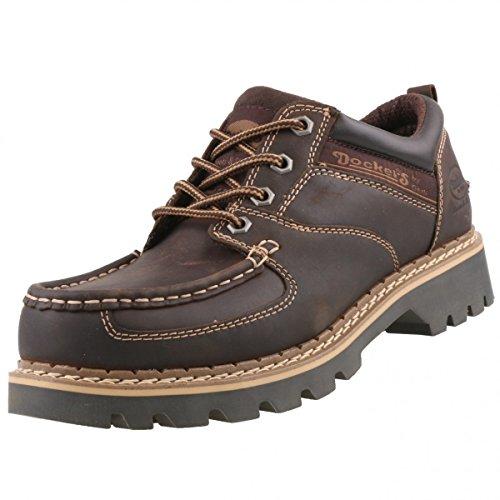 Dockers by gerli di scarpe, colore: nero e marrone Marrone