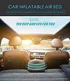 CDGroup Luftmatratze Auto Matratze Aufblasbares Beflockt Bett Rücksitz Verlängerte Auto Kissen Reisen für Kinder