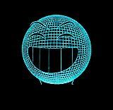 3D Óptico Illusions Led Lámparas Cara Sonriente Forma Usb Led Lámpara De Mesa De Noche Luz Hogar Habitación Decoración Niños Juguete Regalo De Navidad A Mi Lado
