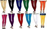 ZAKOD Women's Cotton Leggings (259875, Multicolour, Free Size) - Pack of 12