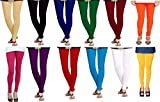 Super Weston Multicolor leggings for Womens Free Size Pack Of 12 Combo Offer