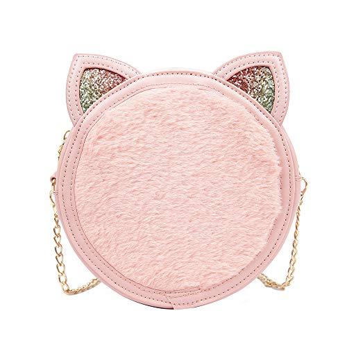 Bfmyxgs Fashion Bag für Frauen Mädchen kleine Tasche weibliche Tide Süße wilde Plüsch Messenger Tasche schicke Kette Tasche Rucksack Schultertasche Handtasche Münze Tasche Taille Beutelpackung Brust