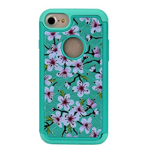Culater® Cover in pelle ibrida di gomma molle per il iphone 7 4,7 inch (Menta verde)