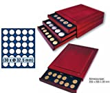 SAFE 6832 ECHTHOLZ MÜNZBOX NOVA exquisite 30 x 32,5 mm RUNDE FÄCHER - IDEAL FÜR 10 EURO / 10 DM / 10 MARK DDR & MÜNZEN BIS 32,5 mm - MÜNZBOXEN - MÜNZELEMENTE