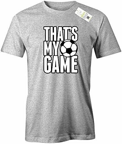 THAT´S MY GAME - FUSSBALL - HERREN - T-SHIRT Grau Meliert