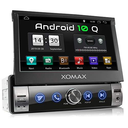 "Oferta de XOMAX XM-VA760 Radio de Coche con Android 10 I Quad Core, 2GB RAM, 32GB ROM I GPS I Soporte WiFi, 3G, 4G, Dab+, OBD2 I Bluetooth I 7"" Pantalla Táctil I USB, SD, RDS, AUXI 1 DIN"