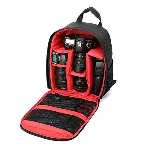 Kamera Taschen, Transer® Kamera Rucksack Kamera Taschen Rucksack Wasserdicht DSLR Tasche für Canon für Nikon für Sony, Camera Bags, rot
