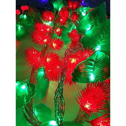 Cadena de linterna LED de luces, luces festivas Festiva, la fiesta de cumpleaños de luces decorativas, hojas, agujas de pino