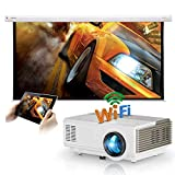 Mini Pocket Wifi Bluetooth Video Projector Airplay HDMI USB Audio VGA AV, 1080P