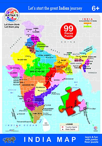 Buy Ratna\'s EDUCATIONAL INDIA MAP Jigsaw Puzzle.(99 pieces ...
