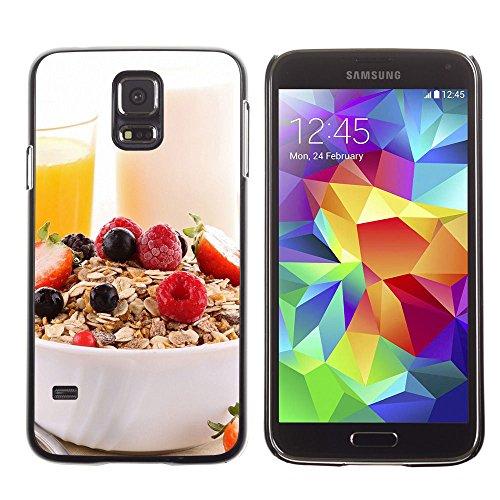 For Samsung Galaxy S5 Case , Colazione realistico - Design Pattern Duro Staccabile Stile Telefono Cellulare Nuovo Caso Cover Guscio Duro