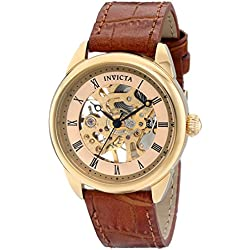 Invicta 17197 36mm Stainless Steel Case Brown Calfskin flame fusion Women's Watch