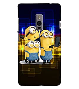 ColourCraft Cartoons Design Back Case Cover for OnePlus Two