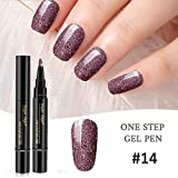 FOONEE 3 in 1 Penna per Smalto per Unghie, Penna per Smalto per Unghie Gel One Step Nessuna Base per Top Coat, Impregnate di Kit per Nail Art per Smalto per Unghie A LED