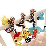 Happy Cherry Baby Süß Hängenden Spirale mit Musik Sound, Activity Spiral Plüschtiere Spielzeug, Beschwichtigen Schlaf Spielzeug für Baby Süßsbett/ Kinderwagen - Sterne
