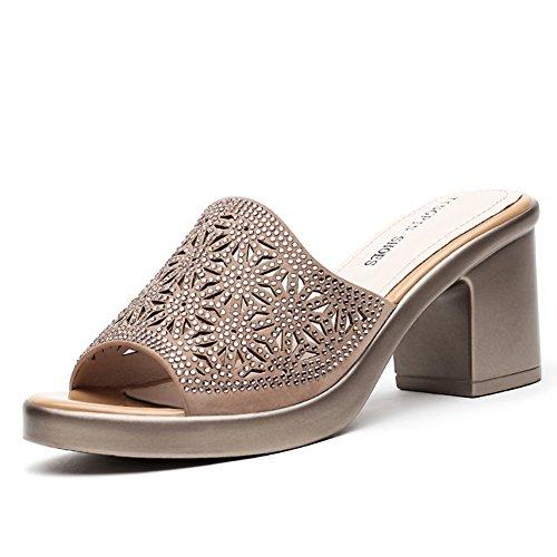 Sommer high heels mit damen cool pantoffeln/Außenbekleidung helle sandalen B