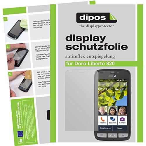 dipos I 2X Schutzfolie matt passend für Doro Liberto 820 Folie Bildschirmschutzfolie