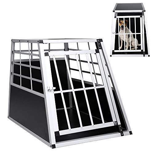wolketon Größe L Langlebig praktisch Gitterbox Aluminium Auto Transportbox große Hunde Hundetransportbox Alu Transportbox