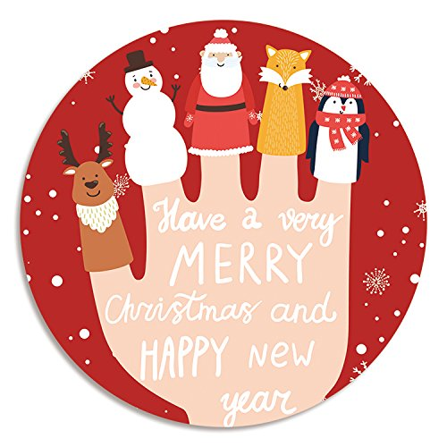 @A Office Mauspads Gaming Mauspads Weihnachten Mouse Pad Rundschreiben Schneemann Santa Claus Office Computer GummilagerFinger Puppe -