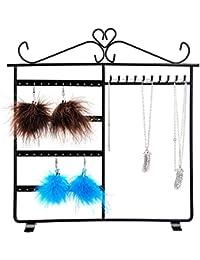 Presentoir à bijoux, bracelets colliers et boucles Métal - Noir 29.5 x 33.5 cm