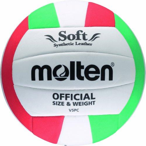 Molten V5PC Volleyball weiss-grün-rot