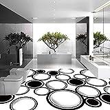 lsweia Moderne 3D Bodenfliesen Malerei Benutzerdefinierte Geometrische Kreis Fototapete Wandbild PVC Selbstklebende Vinyl Bodenbelag Aufkleber Anti