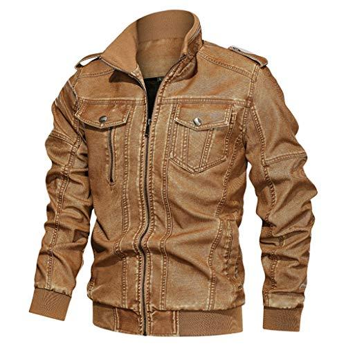 Fenverk Herren Jacken,Herren Herrenbekleidung Jacke Mantel Military Bekleidung Tactical Outwear Atmungsaktiver Mantel Lässige warme Jacke Knopf Herbst Kleidung L-XXXXXXL(B Gelb,XXL)