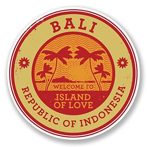 Preisvergleich Produktbild 2 x Bali Indonesien Vinyl Aufkleber Aufkleber Laptop Reise Gepäck Auto Ipad Schild Fun 6490 - 15cm / 150mm Wide