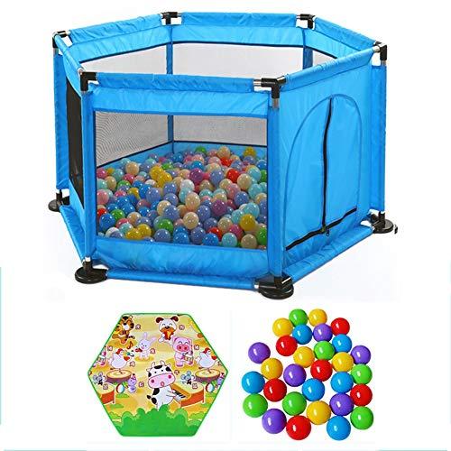 cherheits-ungiftiger tragbarer Baby-Laufstall, Innenfaltbarer 6 Platten-Plaid im Freien für Babys/Kleinkind / neugeborenes/Säuglings-sicheres Kriechen (größe : 300 Balls) ()