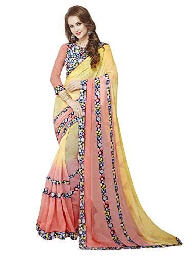 KOROSHNI Lycra Saree With Blouse Piece(Kr-Sarees For Women Latest Design-1037_Transparent Free Size)
