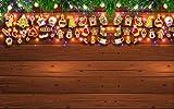 LONGYUCHEN Benutzerdefinierte 3D Seide Wandbild Tapete Weihnachten Serie Kiefer Zweig Ornamente Geeignet Für Wohnzimmer Schlafzimmer Hotel Café Wohnkultur Wandbild,200Cm(H)×300Cm(W)