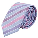 Corbata Massi Morino Slim Fit, estrecha, cosida a mano, de microfibra, en diferentes colores,...