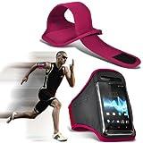 ONX3® ( Hot Pink ) Oppo N1 Mini Hülle Abdeckung Cover Case schutzhülle Tasche Custom Made Sport Armbänder mit dem Fahrrad Radfahren Fitnessstudio Joggen abzugewöhnen Armband Case Abdeckung