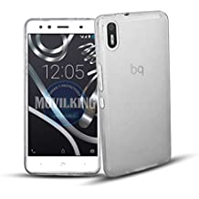 FUNDA DE GEL SILICONA DE COLOR TRANSPARENTE PARA BQ AQUARIS X5