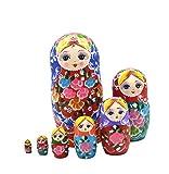 F.Dorla Anstecken, russische Puppe Matroschka-Puppe aus Lindenholz multi