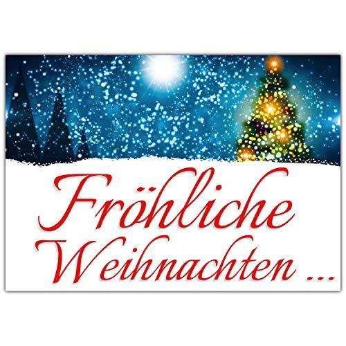 A4 XXL Weihnachtskarte WEIHNACHTSLICHTER mit Umschlag - edle Klappkarte für Kollegen Freunde Verwandte - Frohe Weihnachten Karte von BREITENWERK