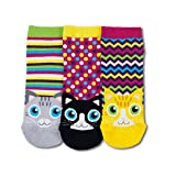 United Oddsocks Taille EUR 37-42 Chats L5 Multicolore 3 Chaussettes Basses